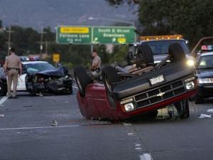 Santa Rosa California Crash Involving CHP, Pickup Truck, and Motorcycle