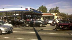 Scene of Woodland Hills, CA Accident Caused by Fleeing Hit and Run Driver