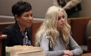 Lindsay Lohan in Court with her attorney